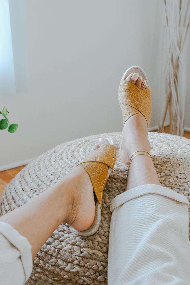 Leather Espadrille Sandals by Nikki and Mallory_ DIY Shoe Kit_Artist Series_ A HAPPY STITCH X Nikki & Mallory